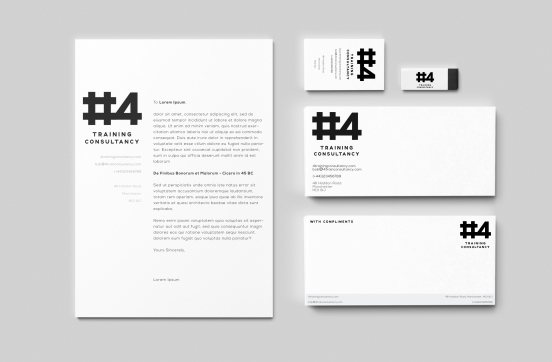 Black & White Branding Mock-Up